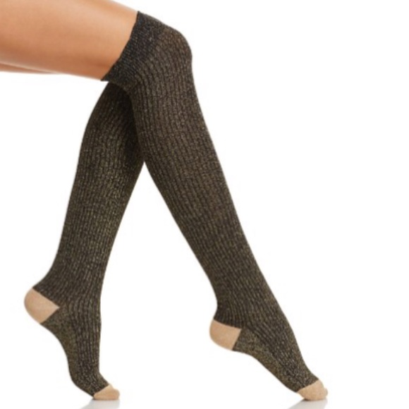 a1d1413f1 Kate Spade glitter knee high socks